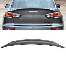 Rear Duck Trunk Wing Lip Spoiler For 08-15 Lancer Evo X 10 Primer Ready Rs Style