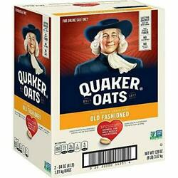 Quaker Old Fashioned Rolled Oats Two 64oz Bags In Box, 90 Servings Free Shipping