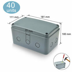 40packs Electronic Junction Box Waterproof Project Enclosure Box 181x111x100 Mm