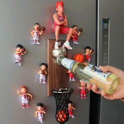 Slam Dunk Anime Action Figure Home Decoration Magnets Wall Mounted Bottle Opener