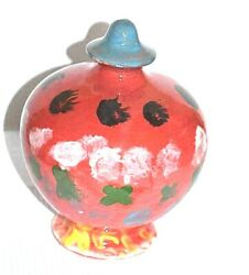 Piggy Bank Porcelain Hand Painted Handmade Numbered Vintage Antique Exclusive