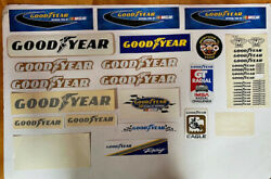 Goodyear Racing Sticker Collection From 70's Thru 90's .