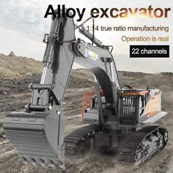 114 Rc Remote Control Excavator Toy Truck Construction 22 Channel Simulation Us