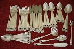 Eternally Yours 1847 Rogers Silverplate 54pc Complete Flatware Set For 8