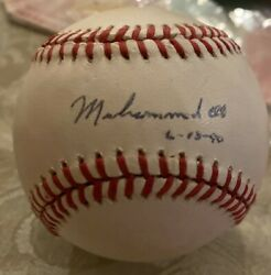 1980s Muhammad Ali Signed Autographed Onl Baseball W/ Jsa/letter Of Autheticity