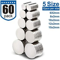 60pack Refrigerator Magnets For Office,hobbie, Crafts And Science,round Ceramic