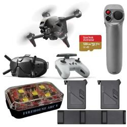 Dji Fpv Drone With Fly More Kit, Motion Controller, Strobe Light, 128gb Card