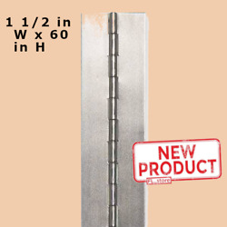 3 X 60 Piano Hinge No Holes Weldable Steel Finish Continuous Nonremovable Pin