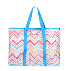 Saucey Chic Large Mesh Beach Bag Tote for Women Colorful Large Shoulder Bag $14.58