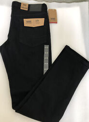 Nwt Men's Size 34/32 V76 Skinny Fit Black Jeans Off The Wall Nwt