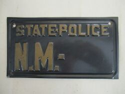 1940s New Mexico Police Motorcycle License Plate Tag