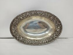 S. Kirk And Son Repousse Sterling 12 Silver Oval Bowl Vegetable 2509 925 295g