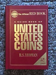 1999 The Official Red Book Guide Of Us Coins Hardbound 52nd Edition New Yeoman