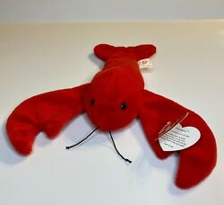 Ty Beanie Baby 1993 Pinchers The Lobster W/ Tag Errors - Perfect Condition
