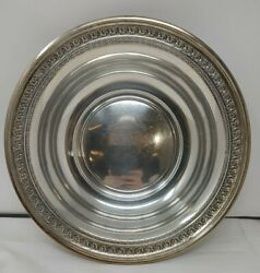 Alvin Round Serving Bowl 10.25 Sterling Silver 925 D211-2 340g