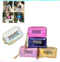 Pink Makeup Cosmetic Bag Zipper Bag For Travel or Storage Bags free shipping $10.00