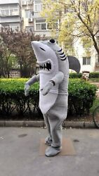 Shark Mascot Costume Cosplay Party Game Dress Outfit Advertising Halloween Adult