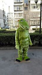 Chameleon Mascot Costume Suit Cosplay Party Game Dress Outfit Halloween Adult