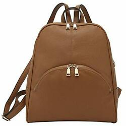 Casual Fashion Backpack Purses for women Backpack for Women Fashion Brown $52.44