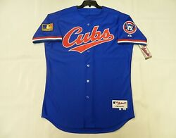 Authentic Chicago Cubs 1994 Throwback Tbc Jersey W/125th And Cubbie Patch 48 Cool