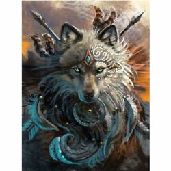 Wolf King Acrylic Paintings For Home Wall Decorations Diy Paint By Numbers Kit