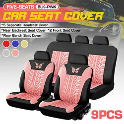 Auto Seat Covers For Car Truck Suv Van Front Rear Full Set Universal W
