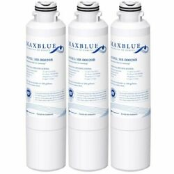 3 Pack Refrigerator Water Filter Fits For Samsung Rs265tdrs Rs265tdrs/xaa