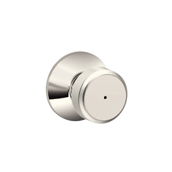 Schlage Bowery F40 Bwe 618 Polished Nickel Bed And Bath Lock Door Knob Lot Of 8