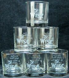 6 Wise Foods Potato Chips Glass Old Fashioned Tumblers Made By Libbey Usa 1979