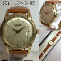 Longines 10 Gold-plated Watch With Box Vintage Antique 1950s Made From Japan