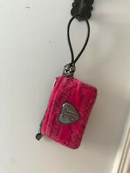 Juicy Couture Wristlet Pink Velour Wristlet with pockets slightly used condition $12.00