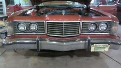 1974 Ford Ltd Coupe Header Panel With Grille Headlights Emblems No Bumper