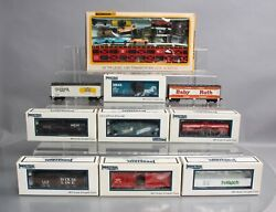 Industrial Rail, Bachmann, And Other Ho Assorted Freight Cars [10] Ex/box