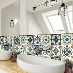 Moroccan Style Tile StickerTile Waterproof Oil Proof Removable Decals for Room