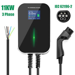 Ev Charging Station 16a 3phase Type2 Wallbox Electric Car Charger 11kw Evse Ip66