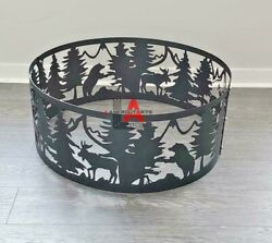 Custom Fire Pits, Metal Fire Pit, Outdoor Fire Pit, Animals Fire Pit Ring