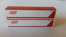Jtc Model Trains Fms009 N Soo Line 40' R.s. Canvas Top Container Pack Of 2