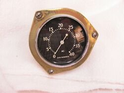 Ac Flint 4k Tachometer 3 Inch Rear Mount Cable Drive Curved Glass Rare 1940s