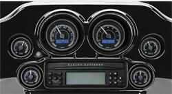 Dakota Digital Mvx 6-pack Gauge Black/gray Black Bezels Mvx-8604-kg-k