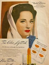 Merle Oberon, Max Factor Makeup, Cosmetics, Full Page Vintage Print Ad