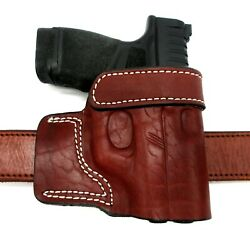 Right Hand Brown Leather Yaqui Speed Draw Belt Holster For Kimber Micro Carry 9