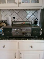 Vintage 80's Soundesign 4955mgy Portable Cassette Stereo Cd Boombox