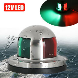 2 In 1 12v Led Bow Navigation Light Marine Boat Yacht Pontoon Stainless Steel Us