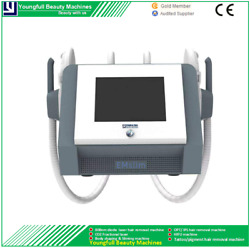 Electromagnetic Muscle Emslim Hiemt Fat Burning 2 Hand Air-cool Slimming Machine