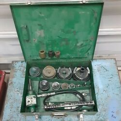Greenlee 7310 Hydraulic Knockout Punch Driver Set W/767 Complete Ed4u9030