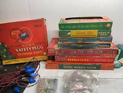 Vintage Noma Christmas Bubble Lites Lights Bubble Stems 29 And Other Parts
