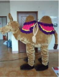 Xmas Brown Camel Mascot Costume Suits Cosplay Party Game Dress Adults Halloween