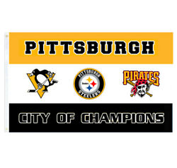 Pittsburgh City Of Champions Team Banner College RoomDecor Pary Flag 3X5FT