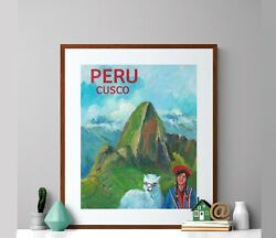 Peru Cusco Vintage Travel Poster - Poster Paper Home Decor Poster Vintage Wall