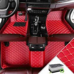 Floor Mats For Bmw X5 E70 F15 G05 E53 00-07 Full Surrounded Wear-resistant Red